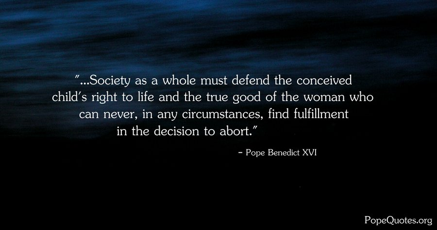 Fulfillment Quotes Awesome Pope Benedict Xvi Quote Society As A Whole Must Defend The