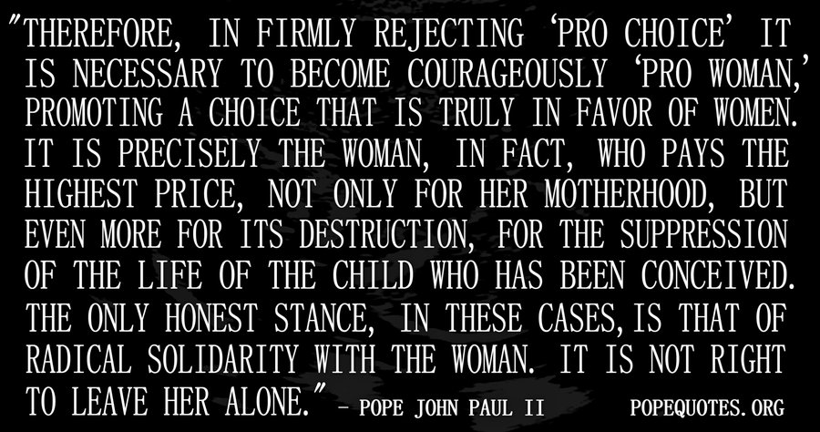 Pope John Paul II Quote: Therefore In Firmly Rejecting Pro