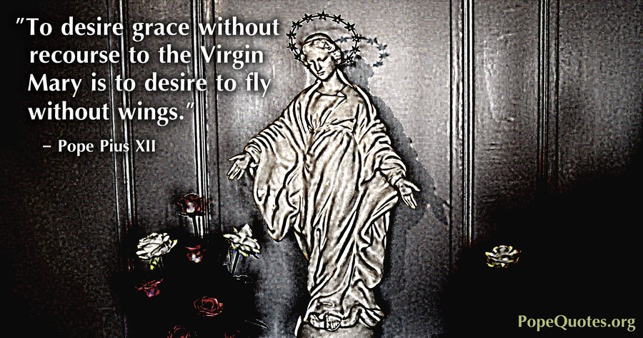 Pope Pius Xii Quote To Desire Grace Without Recourse To The Virgin